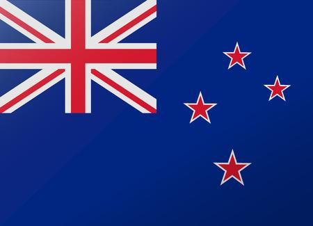 reflectie vlag Nieuw-Zeeland Stock Illustratie