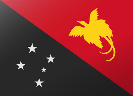 reflection flag papua new guinea Ilustrace