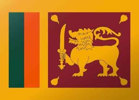 sri lanka: reflection flag sri lanka
