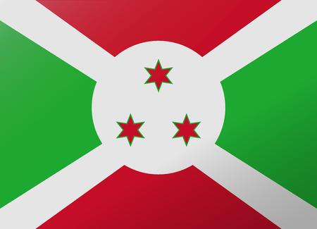 burundi: reflection flag burundi