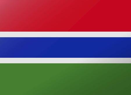 gambia: reflection flag gambia