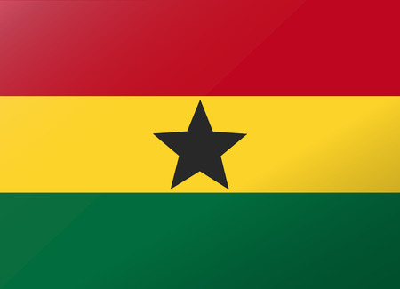 ghana: reflection flag ghana