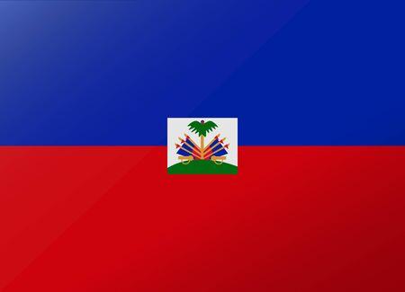 haiti: reflection flag haiti