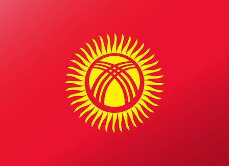 kyrgyzstan: bandera reflexi�n Kirguist�n