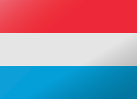 luxembourg: reflection flag luxembourg Illustration