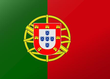 reflection flag portugal  イラスト・ベクター素材