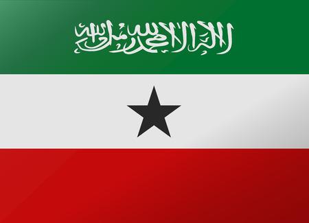 somaliland: reflection flag somaliland