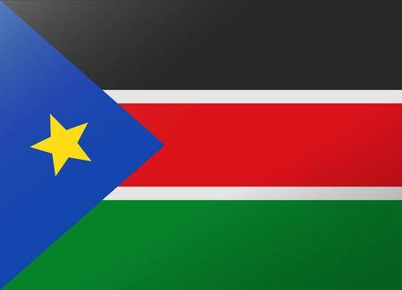 south sudan: reflection flag south sudan