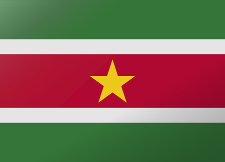 suriname: reflection flag suriname