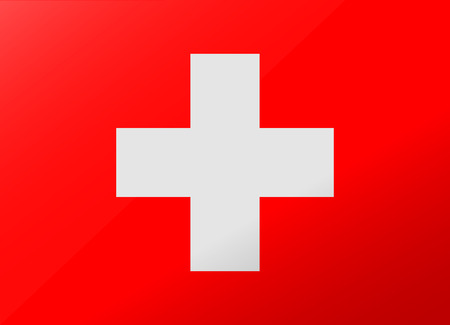 international flags: reflection flag switzerland Illustration