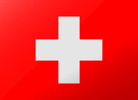 reflection flag switzerland Illustration