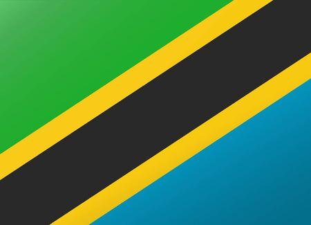 tanzania: reflection flag tanzania Illustration