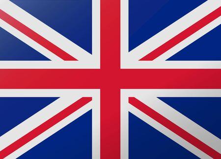 united kingdom: reflection flag united kingdom