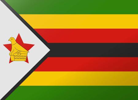 zimbabue: bandera reflexi�n zimbabwe