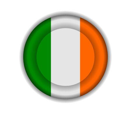 ireland: button flags ireland