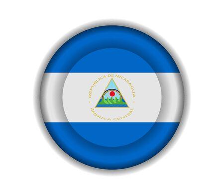 nicaragua: button flags nicaragua