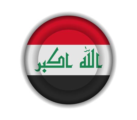 iraq: button flags iraq