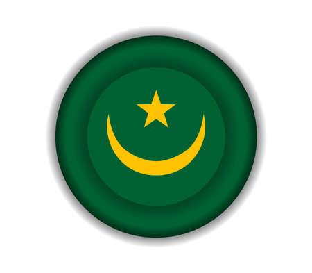 mauritania: button flags mauritania