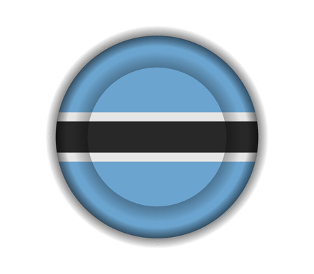 botswana: button flags botswana Illustration