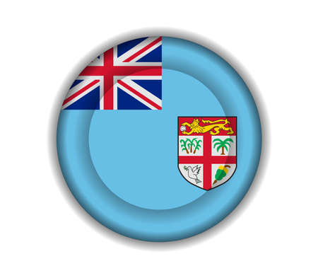 fiji: knop vlaggen Fiji