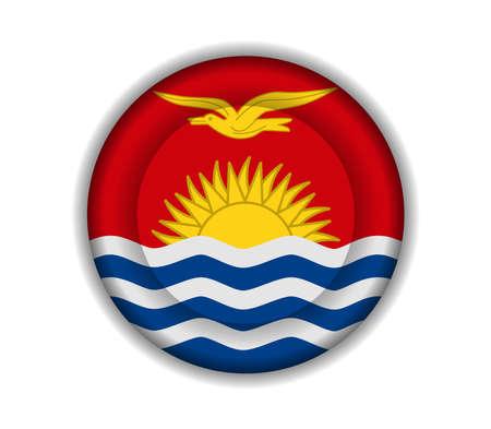 kiribati: button flags kiribati