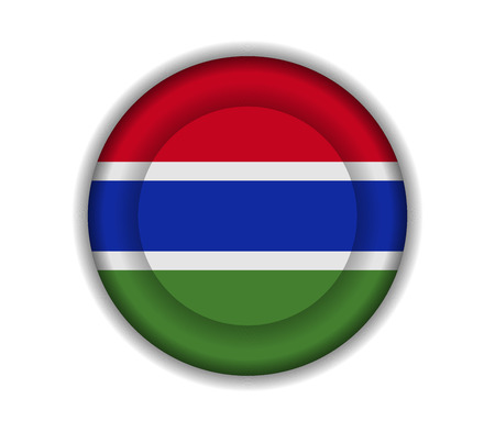 gambia: button flags gambia Illustration