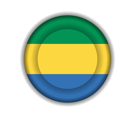 gabon: button flags gabon
