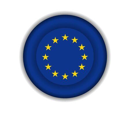 european: button flags european union Illustration
