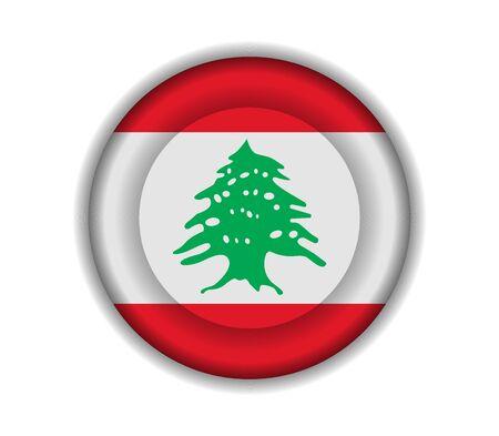 lebanon: button flags lebanon
