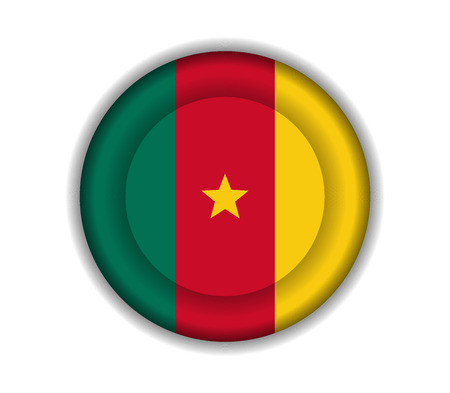 cameroon: button flags cameroon Illustration