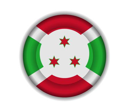 burundi: button flags burundi