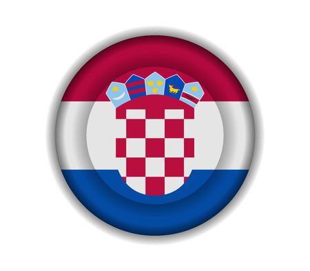 croatia: button flags croatia Illustration