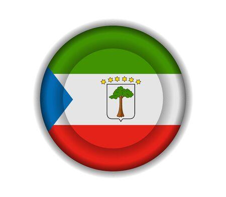 equatorial guinea: button flags equatorial guinea Illustration