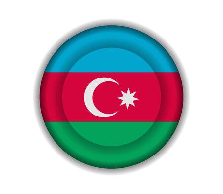azerbaijan: button flags azerbaijan