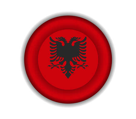 albanie: bouton drapeaux albanie Illustration
