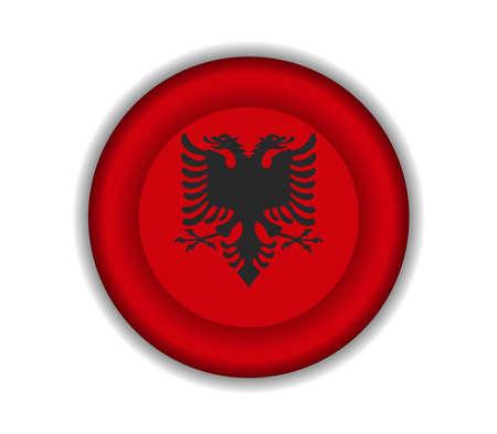 albania: button flags albania Illustration