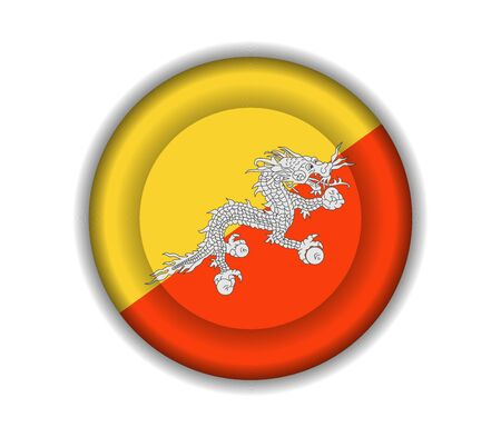 bhutan: knop vlaggen Bhutan