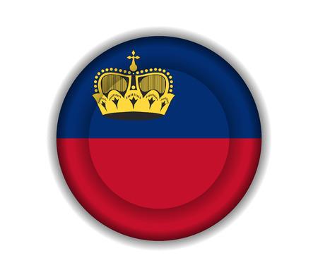 liechtenstein: button flags liechtenstein