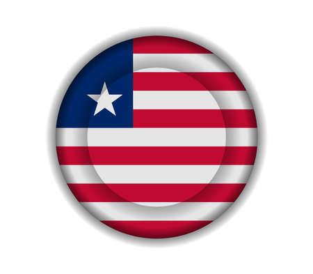 liberia: button flags liberia