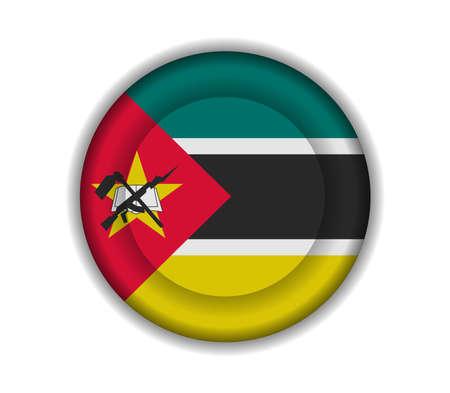mozambique: button flags mozambique Illustration