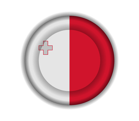 malta: button flags malta Illustration