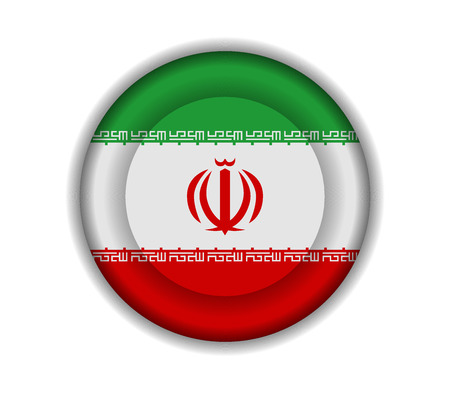 iran: button flags iran