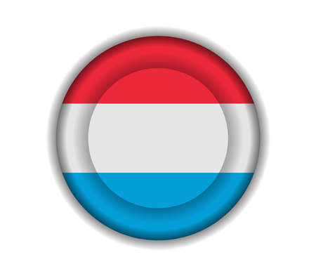 luxembourg: button flags luxembourg