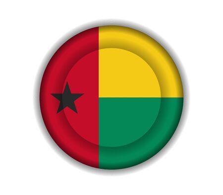 guinea bissau: button flags guinea bissau