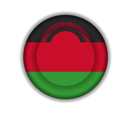 malawi: button flags malawi Illustration