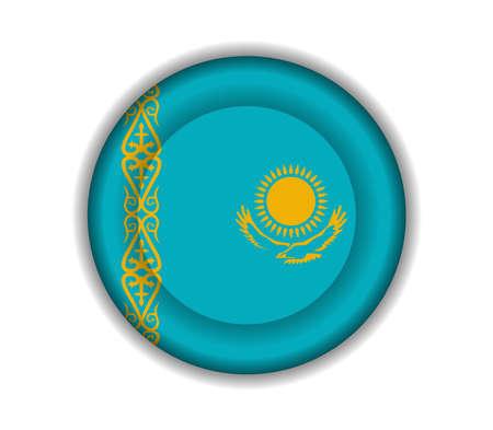kazakhstan: button flags kazakhstan Illustration
