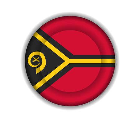 vanuatu: button flags vanuatu Illustration
