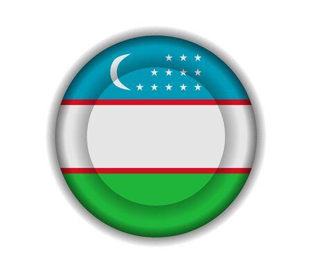 uzbekistan: button flags uzbekistan Illustration