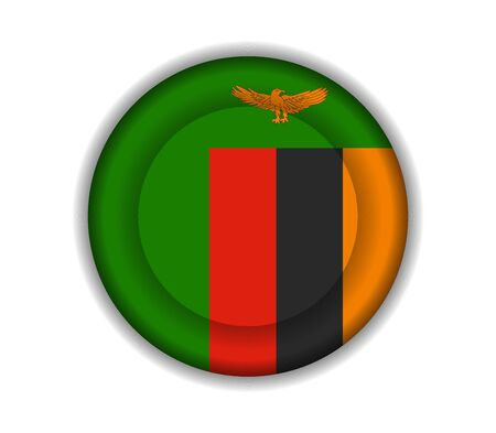 zambia: button flags zambia