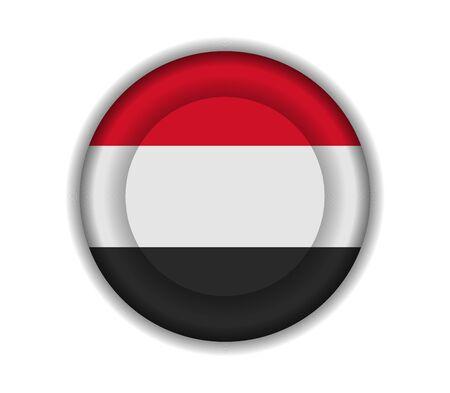 yemen: button flags yemen Illustration